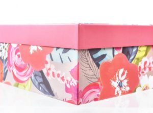 Large Bright Floral Gift Box