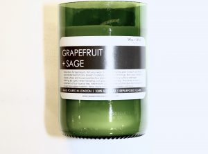 Wax + Wick Workshop Grapefruit and Sage Candle
