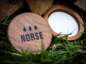 Norse Wooden Shaving Bowl and Shaving Soap