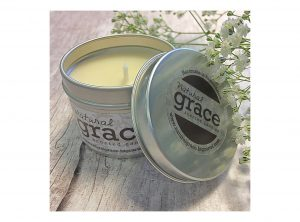 Natural Grace Scented Candles –  Small candle tins