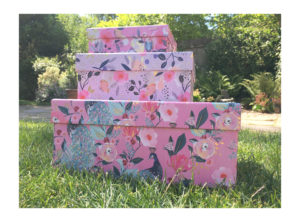Pink Floral Large Gift Box