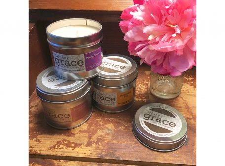 Natural Grace Candle in tin. Made in Bedfordshire.