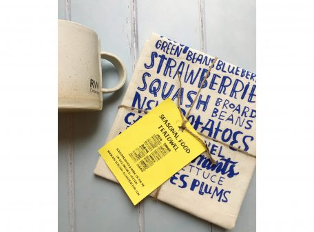 Seasonal foods tea towel. Perfect gift for new home present.