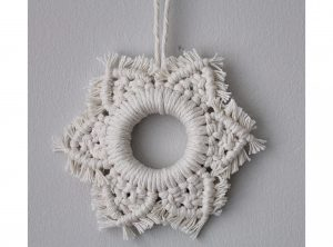 Macrame Snowflake Decoration