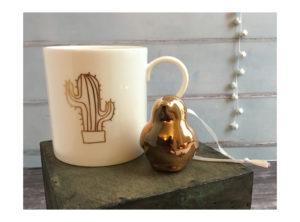 Gold Cactus Mug
