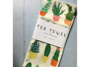 Succulents Tea Towel