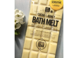 Our Tiny Bees Cocoa and Honey Bath Melt. Gentle and soothing for sensitive skin.