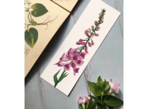 Foxglove Bookmark by Alice Millin