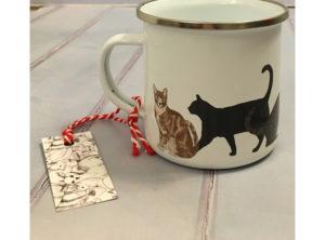 Cats Enamel Mug