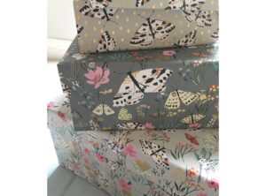 Good quality re-usable floral gift box. Louise Tlier design.