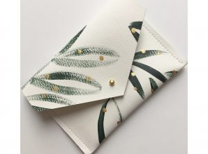 Green Botanical Recycled Leather Purse