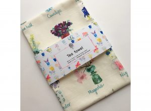 A-Z of Flowers Tea Towel