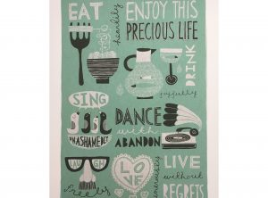 Eat, Drink, Dance, Sing Art Print
