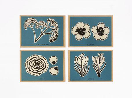 Detail of Studio Wald Flower Recipe Notecards