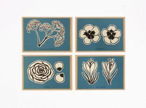 Edible Flower Recipe Card Set