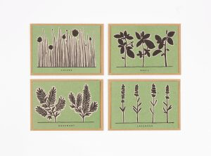 Garden Herb Recipe Card Set