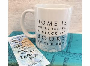 Home is where theres a stack of books mug