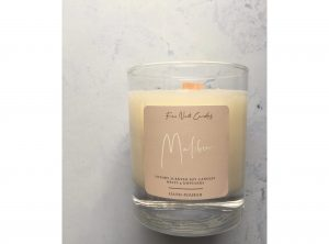 Hand poured soy candle Malibu scent