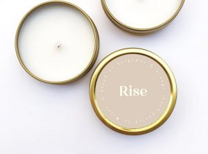 Rise hand poured candle