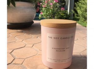 Strawberry and Rhubarb Luxury Soy Candle