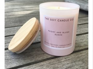 Peony and Blush Suede Candle