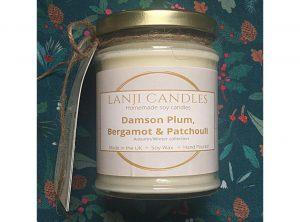 Damson Plum, Bergamot and Patchouli Soy Candle