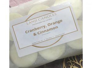 Cranberry, Orange and Cinnamon Wax Melts
